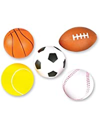 5 Soft Foam Sports Balls For Kids 3.5