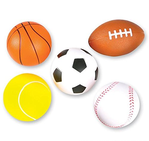 Neliblu 5 Soft Foam Sports Balls for Kids 3.5