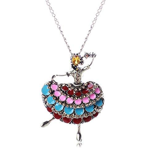 Horseshoe Toggle Watch (HeyGirl Christmas Fashion Retro Diamond Little Girl Dancing Pendant Sweater Necklace)