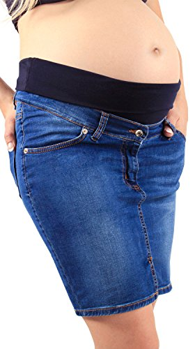Gonna di Jeans Premaman, a Tubino, Elastica Fresca e Comoda - Made in Italy Jeans