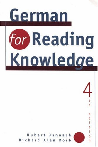 German for Reading Knowledge -  Hubert Jannach, 4th Edition, Paperback