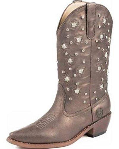 Womens Bronze Cowboy Boots - 5