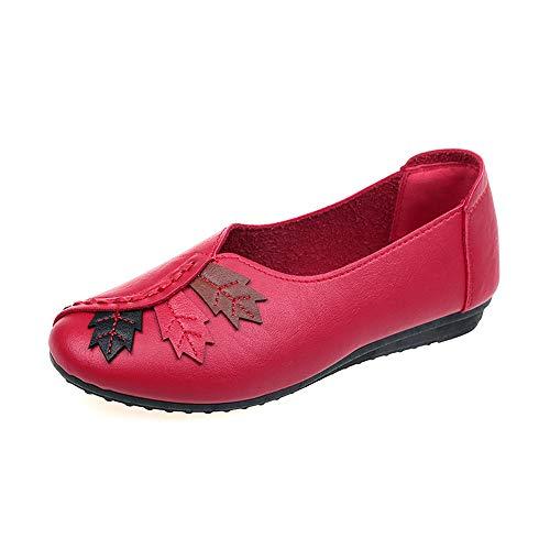 Fminine Bateau Tte Argent Chataignes Moutarde Ronde Mode Parti Casual Feuilles Fond Pea Alikeey Chaussures Rouge Flat Plat Noire Dcontracte Dentelle Roses P4EBqw