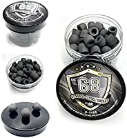 100 x D-Type Hard Mix Rubber Steel Shells Rubber Balls Mixed with Steel Powder 6 Grams Heavy Ammunition for Tr