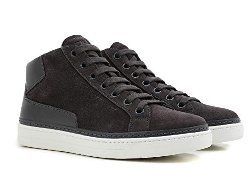 - Prada Men's Grey Suede Leather High Sneakers Shoes - Size: 11.5 US