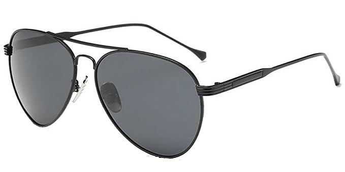 9251d7d52647 BOZEVON Polarized UV400 Metal Frame Aviator Sunglasses Mens Womens  Black-Gray NO.1  Amazon.co.uk  Clothing