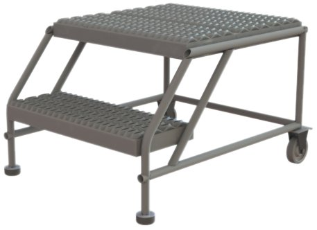 Tri-Arc WLWP022424 2-Step Forward Descent Mobile Steel Work Platform, 24-Inch x 24-Inch Platform by Tri Arc (Image #2)