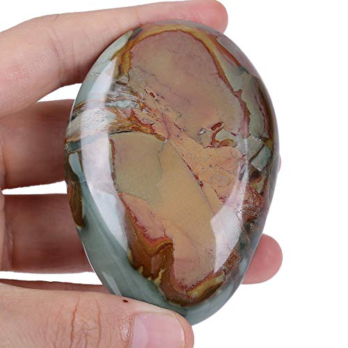 Crystal Jasper Ocean (Loveliome Irregular Polished Stones, Stones, Palm Pocket Healing Crystal Massage Spa Energy Stone(Ocean Jasper))