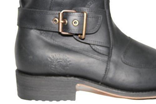 Cowboy 66 Route pour Cuir Hommes Bottes Noires Grinders en gS8Uqwf