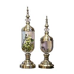 Crystal Glass Metal Vase
