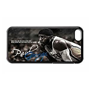 XiFu*MeiNBA Team 5 Indiana Pacers Paul George Print Black Case With Hard Shell Cover for Apple iphone 4/4sXiFu*Mei