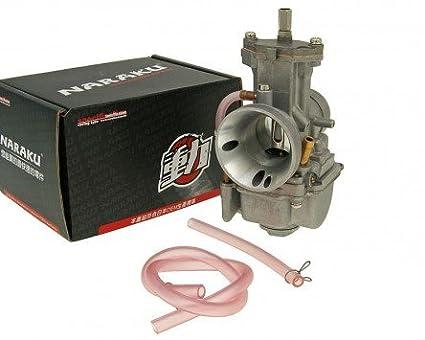 Carburateur à tiroir plat NARAKU Racing V.2 30mm - Kymco (Kwang Yang)-Maxxer 50 avec admission