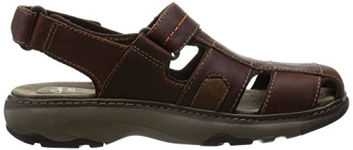 Clarks Raffe Bay, Sandali Uomo Marrone (Brown Leather)