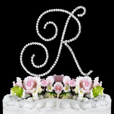 RENAISSANCE MONOGRAM WEDDING CAKE TOPPER LARGE LETTER R by Other