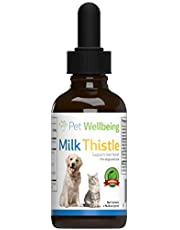 Pet Wellbeing - Milk Thistle Cats - Natural Support Feline Liver Health - 2oz (59ml)