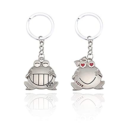 Amazon.com: Sinchi Kuzo 1 Pair Trendy Animal Couple Keychain ...
