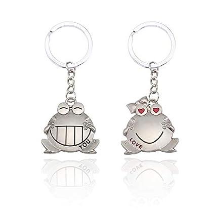 Amazon.com: Sinchi Kuzo 1 Pair Trendy Animal Couple Keychain ...