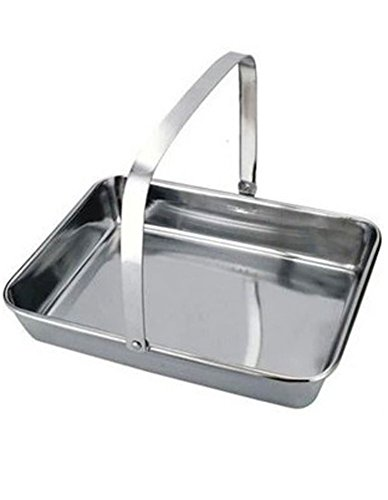 iecool Thick Stainless Steel Flat Bottom Square Tray Silver 2520cm by iecool