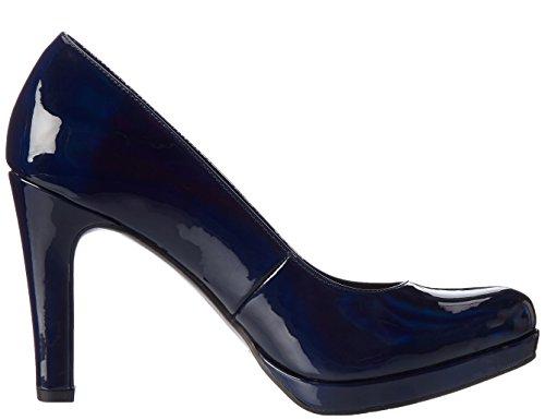 22426 Femme Bleu Blue Pat Night Tamaris Escarpins wEREd
