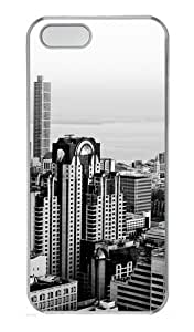 The Future Of The City Custom PC Hard Case Cover for iPhone 5S and iPhone 5 - Transparent