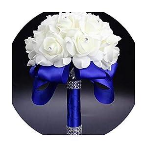 foosheeonzi Wedding Bouquet Handmade Artificial Flower Rose buque Casamento Bridal Bouquet for Wedding Decoration,02 6