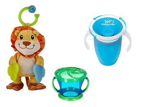 Munchkin Miracle 360 Sippy Cup with Snack Catcher and Teether Babies Lion