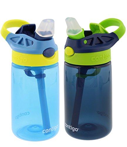 Contigo Kids Autospout Gizmo Water Bottles, 14oz  - 2 Pack