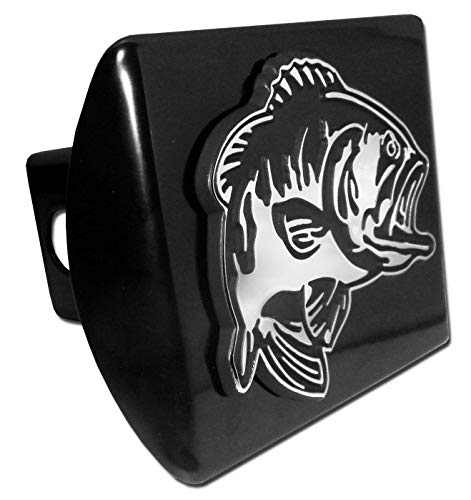 Elektroplate Bass Fish Black Metal Hitch Cover