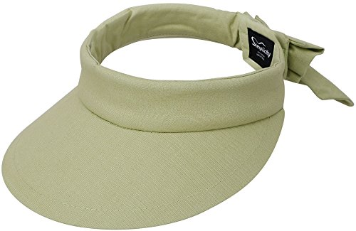 Simplicity Women's SPF 50+ UV Protection Wide Brim Beach Sun Visor Hat (Lime)