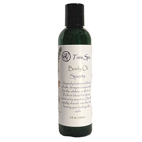 Très Spa Sports Body Oil- for the athlete in all of us! The perfect after workout massage oil with Coconut, and Hempseed oils