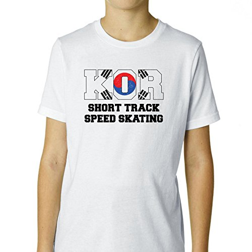 Hollywood Thread South Korean Short Track Speed Skating - Winter Olympic Boy's Cotton Youth T-Shirt