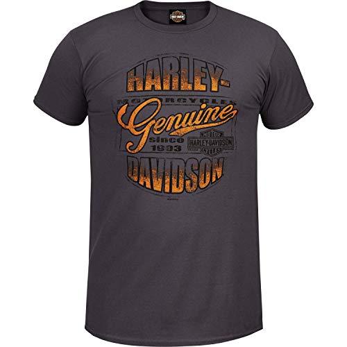 HARLEY-DAVIDSON Military - Men's Lightweight Contemporary Fit Vintage Black Tee - Kadena A.B. | Worn Genuine XL