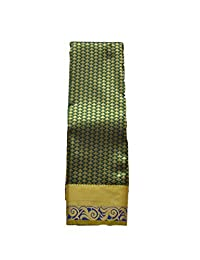 arars Women's kanchipuram kanjivaram pattu style Art Silk Saree With bloue saree colour bottle green Free Size