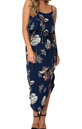 Coolred-femmes Glissent Fente Latérale Impression Soirée Taille Empire Floral Robe De Soirée 7