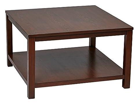 OSP Furniture MRG12SR1-MAH Merge Square Coffee Table, 30