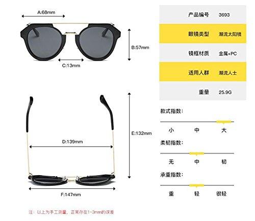 Lennon style cercle Mercure vintage du en métallique inspirées rond Blanc de soleil lunettes polarisées retro Fap8pT