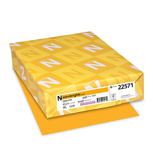 "Gold 24 Lb Letter (Astrobrights Color Paper, 8.5"" x 11"", 24 lb/89 gsm, Galaxy Gold, 500 Sheets (22571))"