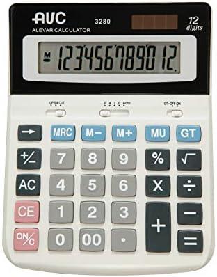 calculadora AVC 12 dígitos de mesa Big Display: Amazon.es: Oficina ...