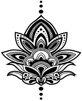 Temporary Tattoo Large Lotus Flower Yoga Inspired Large Body Art Tattoos Made In The Usa Fda Approved Amazon Sg Beauty