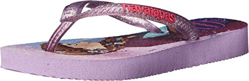 Havaianas Kids Girl's Slim Princess Disney Flip Flops (Toddler/Little Kid/Big Kid) Lilac Sandal 25/26 (US 9-10 Toddler) M