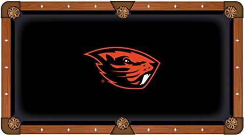 Holland Bar Stool Co. Oregon State Beavers HBS Black with Orange Logo Billiard Pool Table Cloth (9')