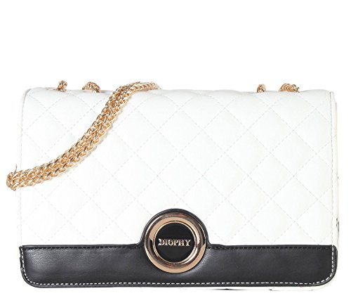 diophy-pu-leather-quilted-pattern-two-tone-multi-spaced-small-shoulder-handbag-womens-purse-accented