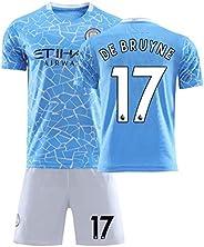 Football Team Training Uniform 20/21 Soccer Jersey Set for Child, Boys' Soccer Jerseys Football T-Shirt an