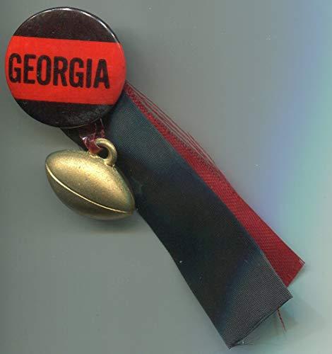 Pinback Button Ribbon - Georgia Bulldogs 1940's Football Pin Pinback Button with Ribbon