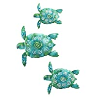 Decoración de pared de tortuga de mar Regal art and gift, juego de 3