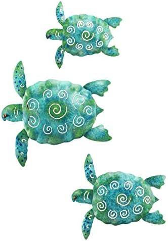 Regal Art and Gift S599 Sea Turtle Wall Decor, Set of 3, Blue/Green