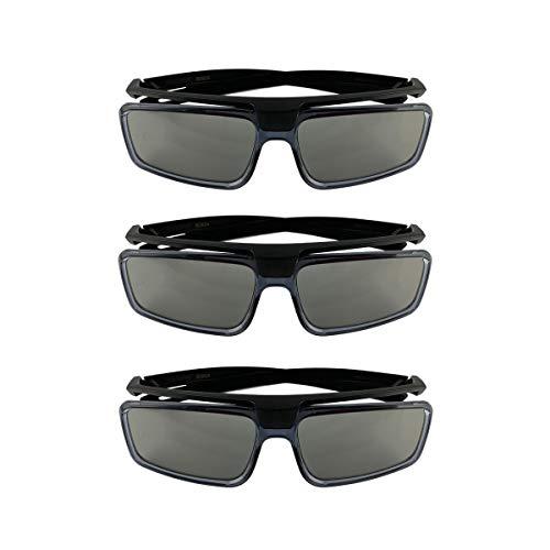 Factory Original Sony TDG-500P Passive 3D Glasses Slim Look No Batteries Needed/No Charging Necessary (TDG-500P) (3 Pack)