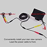 EKYLIN Car RCA DC Audio Video AV Extension Cable for CCTV Security, Truck Bus Trailer Reverse Parking Camera (5 Meters/16 Feet) - 2 in 1 RCA Video & DC Power Cable