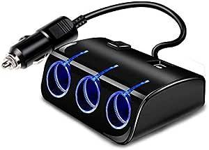 Three Ports Car Cegirate Hub, With USB Output 1200 mAh, And Switch