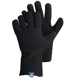 Glacier Glove ICE BAY Fishing Glove, Black, Medium